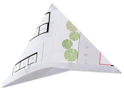 Hardegger Raum Hut aus Planpapier