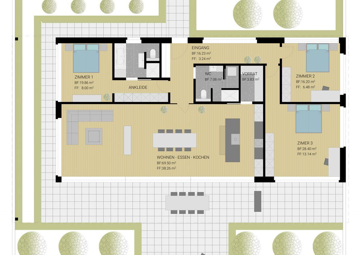 Planung Wohnung Gewerbebau